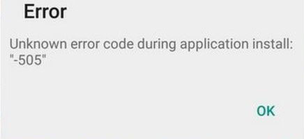 android lollipop 505 error